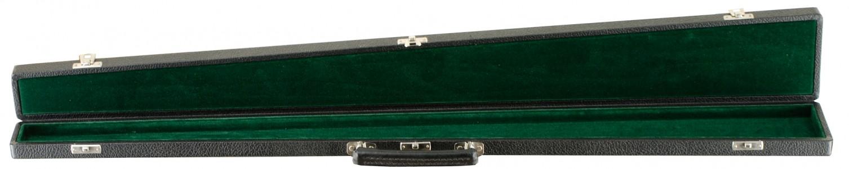 Single German Bow Case Wood/Green Open